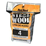Red Devil 0327 8-Pack Steel Wool, No. 4 Extra Coarse