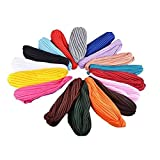 Ever Fairy 17 Pack Stretchable Polyester Turban Head Cover Twisted Pleated Headwrap (Style A)