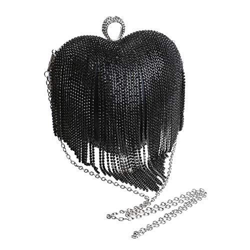Peach Fête Main Gland à Diamant Pochette Coloré Sac Coeur Forme Mariage D'embrayage Gold Prom De Clutch Femme En Soirée Sac Bourse 6EFB6