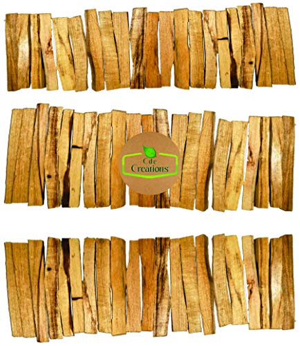 60 STICKS. Palo Santo Smudging Bulk Lot Sticks, High Resin Palo Santo, Holy Wood. Premium Certified Authentic, Wild Harvested Incense Stick for Purifying, Cleansing, Healing. Refill 60 STICKS