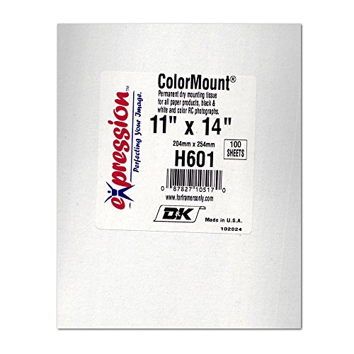 """Bienfang / Seal 11 x 14"""" Color Mount, Heat Activated Print Mounting Tissue, Pack of 100."""