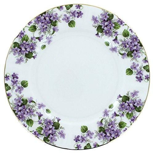 Gracie's Violets Bone China - Dessert Plates - Set of 4 by Coastline Imports