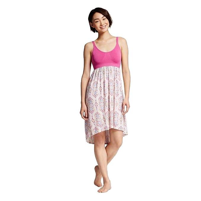 a17b941b701 Gilligan & O'Malley Women Sleepwear Tank Nightgown Floral Dress Pink ...