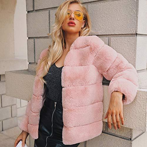 Calda Rosa Lungo Per Elecenty In Caldo Mantieni Outwear Sintetica Trench Elegante Cappotto Cardigan Donna Jacket Pelliccia SZqYnS4