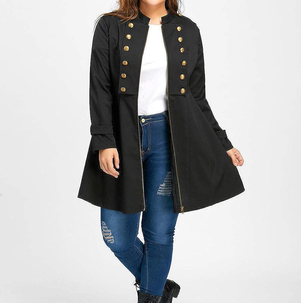 RUIVE Women/'s Oversize Bike Bomber Jackets Fall Spring Casual Solid Zipper Outwear Ladies Long Windbreaker Coats