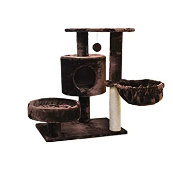 AB pet nest Mascota Nido Gato Escalada Gato Gato Arena Gato árbol sisal Gato rasguño Gato rascarse Columna Gato Saltar Gato Juguete - marrón: Amazon.es: ...