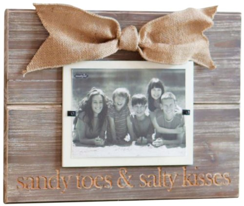 Mud Pie Sandy Toes Photo Frame (Mud Pie Wood Picture Frame)