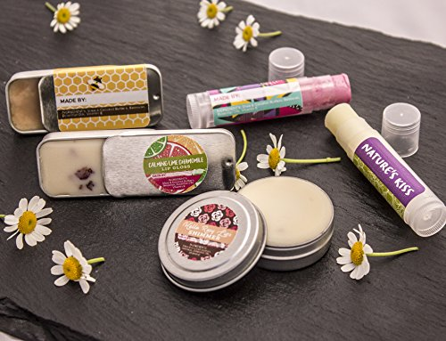 Image of the DIY Lip Balm Kit, (73-Piece Set) Homemade, Natural and Organic | Includes Tubes, Beeswax Pouch, Essential Oils, Labels, Stir Sticks & More