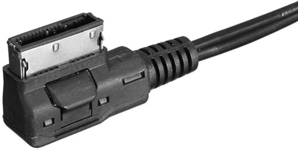 Yctze Cable AUX de 3.5 mm M/úsica MDI AMI MMI Interfaz USB Cargador Cable AUX para A6L A8L Q7 A3 A4L A5 A1 Negro