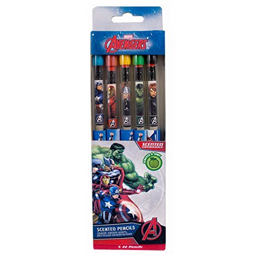 Marvel Avengers Smencils 5-Pack of HB 2 Scented Pencilsの商品画像