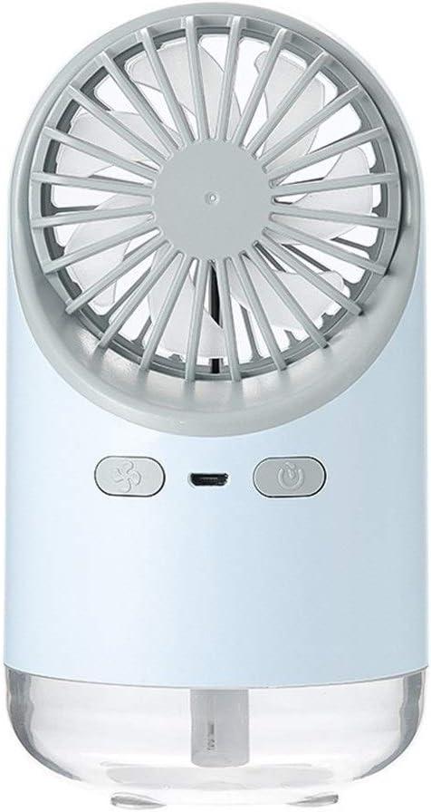 Color : Pink Fan Mini Fan Indoor Bedside USB Charging Fan Desktop Night Light Fan Air Cooling Summer Fan Mini Portable Cooling Fan