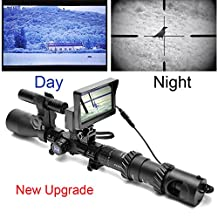 Bestsight DIY Night Vision Scope with CCD and Laser Flashlight for Riflescope Outdoor Night Hunting Optics