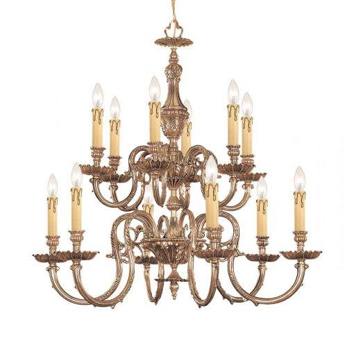 Crystorama Lighting 2612-OB Chandelier, Olde Brass