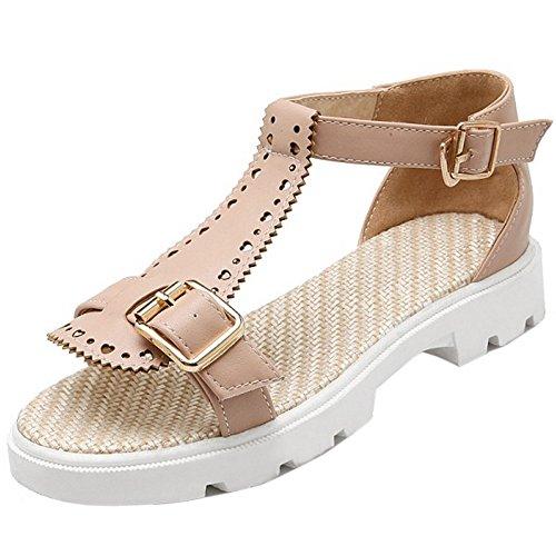 RizaBina Women Elegant Open Toe Sandals Low Low Low Heel T-strap Summer Shoes With Buckle B072L68K81 Parent 9e9372