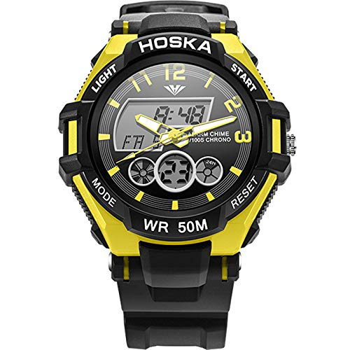 Relojes para NIÑOS Relojes para niños Niños Niños Chicas Deportes Analógico Digital Impermeable LED Luz Naranja Azul Amarillo Relojes de Pulsera Teenage ...
