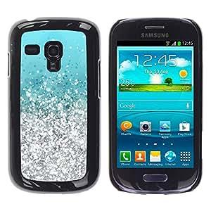 Paccase / SLIM PC / Aliminium Casa Carcasa Funda Case Cover para - Silver Aquamarine Vibrant Bling - Samsung Galaxy S3 MINI NOT REGULAR! I8190 I8190N