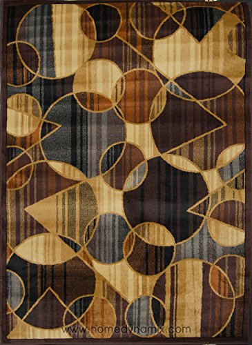 Home Dynamix Royalty 8100 530 Brown/Blue 5 Feet 2 Inch By 7 Feet 2 Inch  Traditional Area Rug