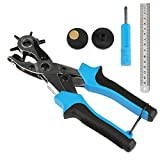 LEADSTAR Belt Hole Puncher Heavy Duty Punch Pliers for Leather Belts and Watch Straps (Blue)