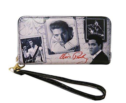 Around Presley Elvis Wallet Gray Zip Closure CPxHOnvT