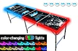 PartyPongTables.com 8-Foot Beer Pong Table with LED Glow Lights - Splash Edition
