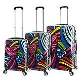 Mia Viaggi Pop Love 3 Piece Hardside Spinner Upright Luggage Set - 20'', 24'' & 28''