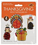 Beistle 4-Pack Decorative Thanksgiving Playmates, 4-Inch-5-Inch (99711)