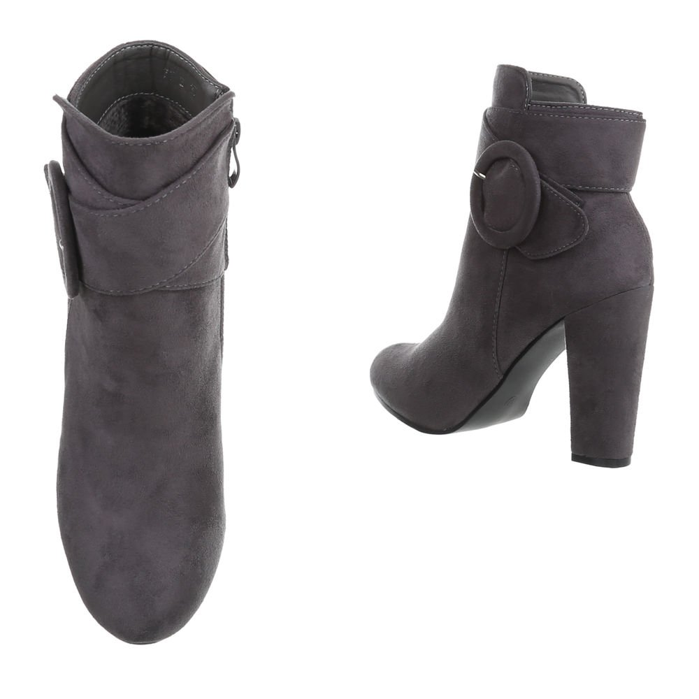 Zapatos para mujer Botas Mini tacón Botines de tacón Gris Tamaño 41: Amazon.es: Zapatos y complementos