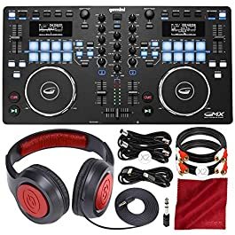 Gemini GMX Series Professional Audio DJ Media Controller System w/Headphones & Basic Bundle