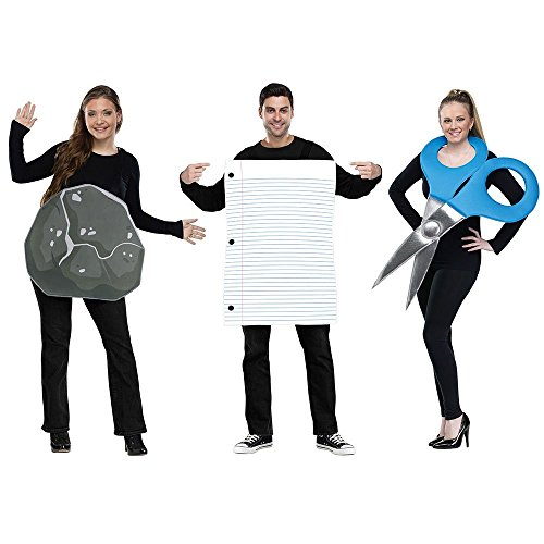 Rock Paper Scissors Costume Standard