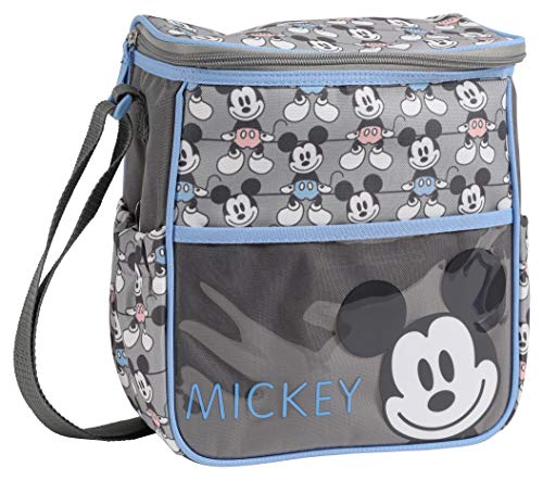 Disney Disney Mickey Mouse Mini Diaper Bag, Smile Mickey Print, Grey