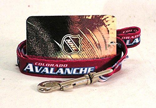 NHL Colorado Avalanche Pet Lead, Team Color, Medium