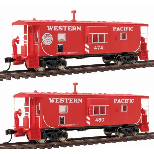 Walthers HO Scale Platinum Line8482 International Steel Bay Window Caboose-Ready to Run 2-Pack Western Pacific