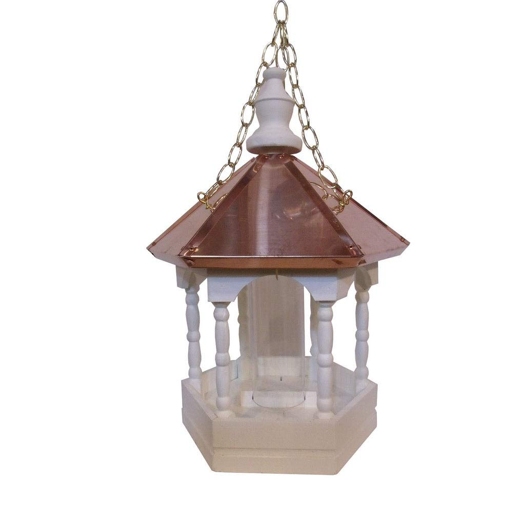 Kunkle Holdings LLC Hanging Copper Top Roof Bird Feeder with Columns by Kunkle Holdings LLC