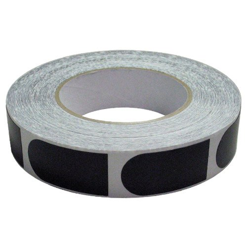 Powerhouse Premium Tape 1 inch Black Smooth (Roll/500 Pieces)