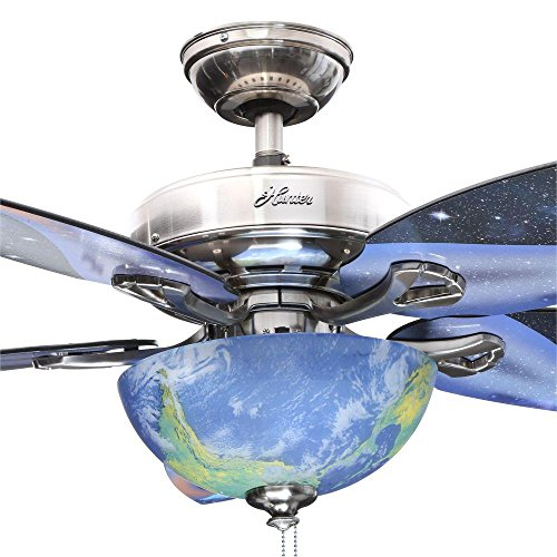 Hunter Space Discovery 48 in. Brushed Nickel Ceiling Fan with Earth Light Moon Blades