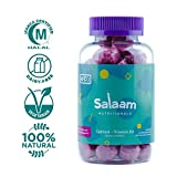 Salaam Nutritionals Halal Calcium + Vitamin D Gummies – Bone Support for Kids and Adults –Vegetarian, Kosher, Gluten, Dairy, & Nut Free (60 Count)
