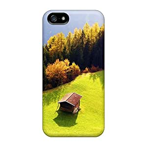 New AnnaTwins Super Strong Green Lawn Nature Hd Tpu Case Cover For Iphone 5/5s