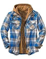 Geruit houthakkershemd heren capuchon jas met dubbele lijst knoop ritssluiting herfst winter dik thermohemd werkjas losse vrije tijd jassen overgangsjas maat M L XL XXL XXXL XXXXL