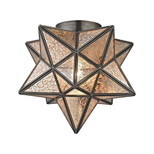 - Sterling Moravian Flush Mount Light in Antique Mercury