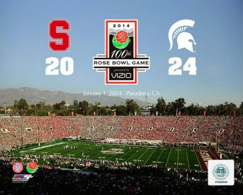 Michigan State Spartans 2014 Rose Bowl Photo (Size: 8