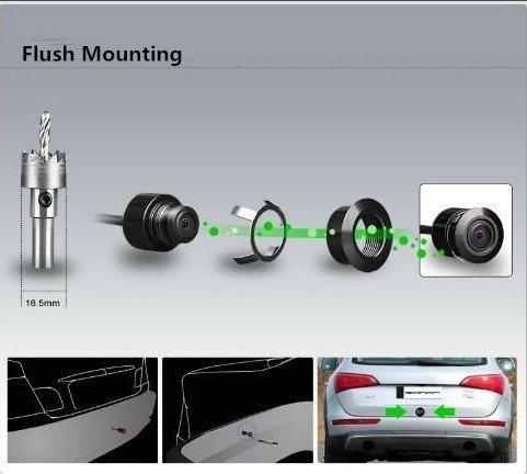 REARMASTER Multifunktionales Auto R/ückfahrkamera kleine Gr/ö/ße Front-Kamera//R/ückfahrkamera//Seiten Kamera