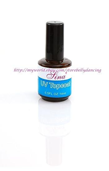 Amazon.com : UV Topcoat Top Coat Acrylic Nail Art Gel Polish Gloss ...