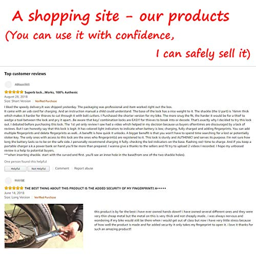 YOUANDMI 2200Mah Smart Fingerprint Lock,Waterproof Heavy Duty Alloy Steel Safe Anti-Theft U Lock with USB Rechargeable Battery for Bike&Motorcycle&Bicycle&Door,Short by YOUANDMI (Image #6)