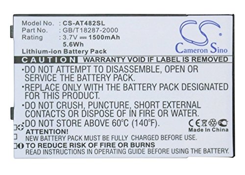 Cameron Sino 1500mAh Li-ion High-Capacity Replacement Batteries for Airis T482, T483, T483L, fits Airis GB/T18287-2000, XWD0002731, XWD0009258