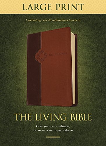 The Living Bible Large Print Edition, TuTone (LeatherLike, Brown/Tan) from Tyndale House Publishers