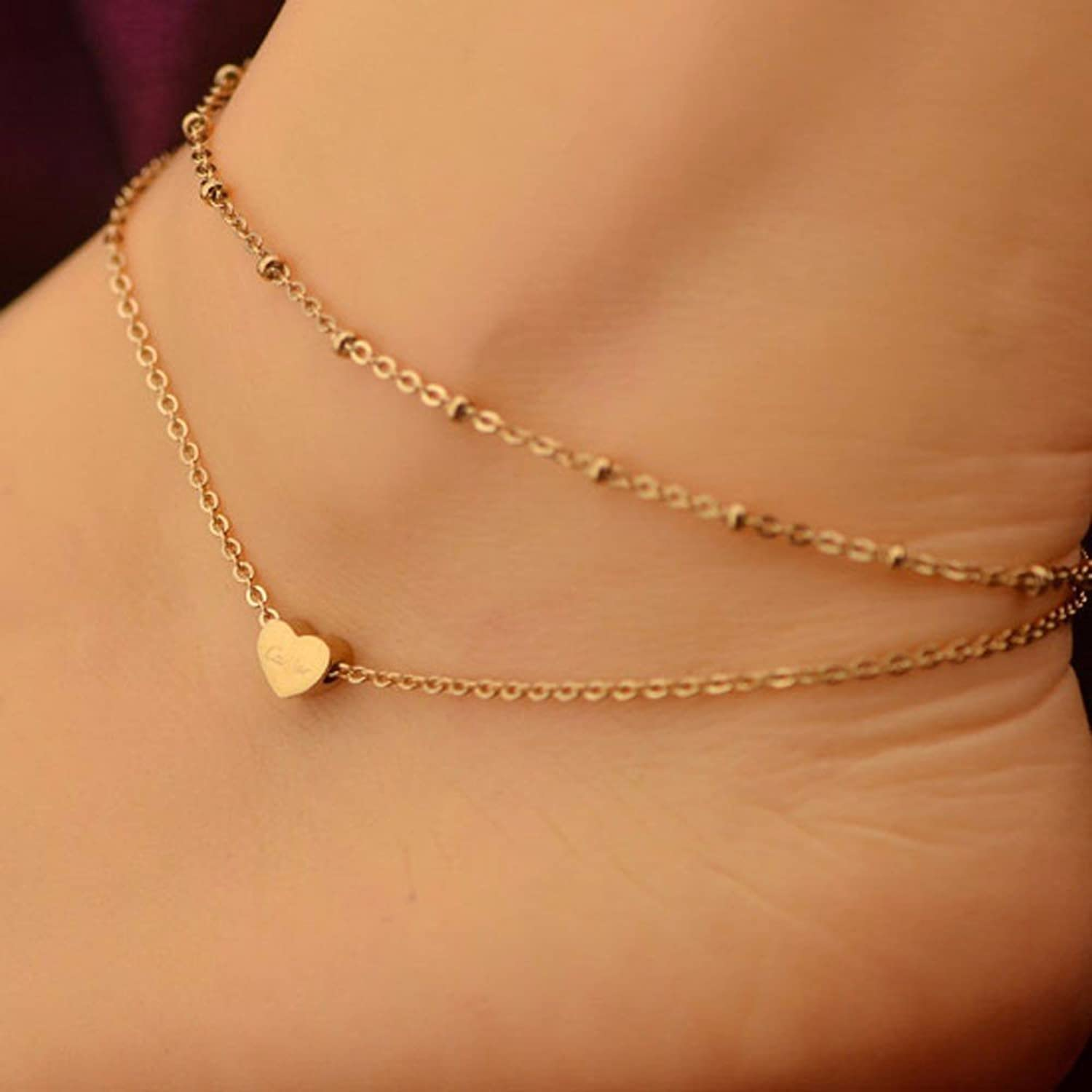 rolo chain tri grams dolphin bracelet anklet charms with itm gold color