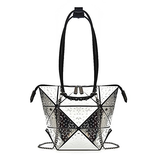 En Femmes Chaîne Silver Sac Crossbody Pu À Cuir Dcrywrx Sacs Shard Lattice Main D'embra H01Hxp