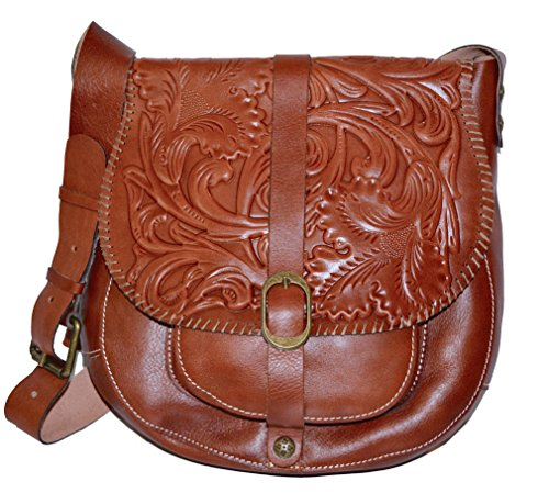 Patricia Nash Women's Tooled Barcelona Florence Cross (Barcelona Leather Handbag)