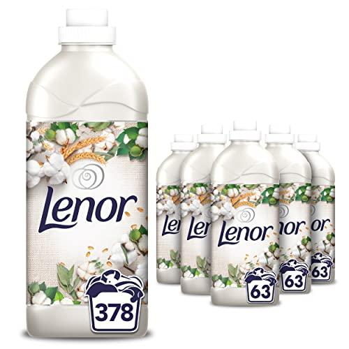 Lenor Fleur De Coton Adoucissant, 378 Lavages (1.449L x 6), Pour Une Fraîcheur Et Une Douceur Durables Sans Colorants