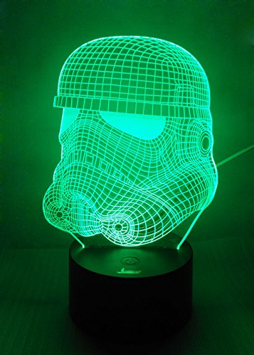 Loveboat USB Powered 7 Colors Amazing Optical Illusion 3D Glow LED Lamp Art Sculpture Lights Produces Unique Lighting Effects and 3D Visualization for Home Decor (Stormtrooper)